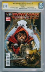 What If Iron Man Demon In An Armor #1 CGC 9.8 Signature Series Signed Stan Lee Venom Deadpool comic